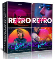 Retro Wave Bundle Packs 1-4 Wav Loops Cubase FL Studio Ableton Logic Bitwig Acid
