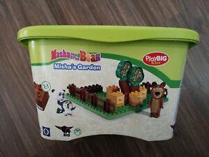 BIG 57092 - PlayBIG Bloxx Mascha und der Bär, Misha´s Garden Spielset in OVP