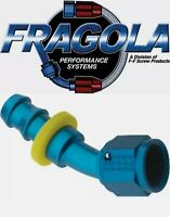 Fragola 224506-BL 6AN Aluminum 45 Degree Socket Hose Fitting Black IMCA USRA