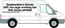 Large VAN SIGN WRITING KIT DECALS GRAPHICS STICKERS KIT