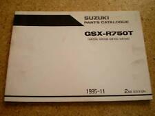 Teilekatalog Suzuki GSX-R 750 Stand 11/1995