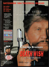 DEATH WISH V_The Face of Death__Orig. 1994 Trade AD movie promo__CHARLES BRONSON