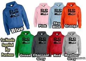 Lumipix Ford Focus RS 2016 Inspired MENS / WOMENS Car Hoodie Great Gift!
