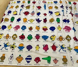 Mr Men Curtains  4ft x4ft 7inches long each curtain