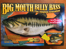 Vintage 1999 BIG MOUTH BILLY BASS Singing Fish Sensation Motion Activated