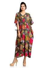 Beautiful Printed Kaftan Maxi Dress Free Size Beach Caftan Casual Evening Wear