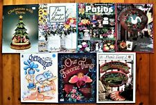 7 Painting Pattern Books Lot Rosemary West Kathleen Foster Roberta Hall -Unused