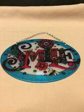 """Joan Baker Designs """"Floral Smile"""" Suncatcher Art Glass"""