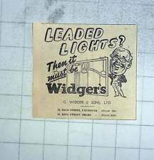 1950 G Widger And Sons, Falmouth For Leaded Lights