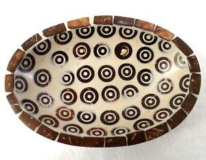 Seifenschale mit Zimstücken braun-beige 15 x 10 x 3 cm Handarbeit