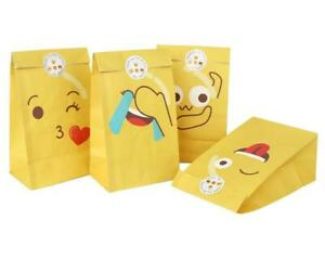 Emoji Paper Party Bags - Pack of 12