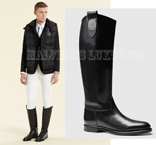 $1,200 GUCCI MENS BOOTS LEATHER RIDING EQUESTRIAN COLLECTION sz 7.5 / 8 / 41.5