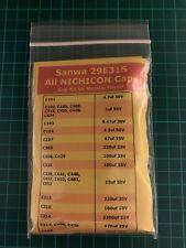 Cap Kit Japonais Révision Naomi Universal Sanwa 29E31S Condensateur Nichicon
