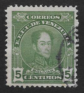 VENEZUELA STAMP 1915-23 SIMON BOLIVAR 5c BLUEISH GREEN MH (E1)