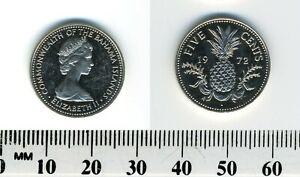 Bahamas 1972 FM - 5 Cents Copper-Nickel Coin - Queen Elizabeth II - Pineapple
