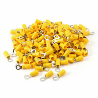 200 Pcs PVC Yellow Ring Terminal Cable Lug RV5.5-5 for AWG 12-10 Wire #10 Stud