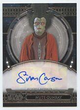 Star Wars 40th Anniv autograph card Silas Carson as Nute Gunray