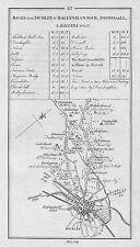 1778 Ireland Dublin Ratoath Dunshaughlim Abbotstown etc. Antique Road Map