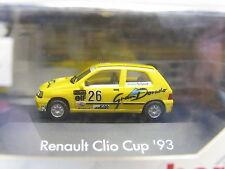 """Herpa 035835 RENAULT CLIO CUP'93 16v """"gran Dorado"""" OVP (l6761)"""
