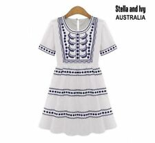 Boho Casual Dresses for Women with Smocked