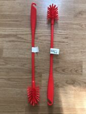 IKEA medelvag Bouteille Brosse, 2 Pack, rouge, Bnwt