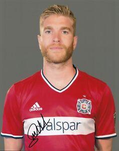 MICHAEL DE LEEUW signed *CHICAGO FIRE* MLS SOCCER 8X10 (FC GRONINGEN) W/COA #1