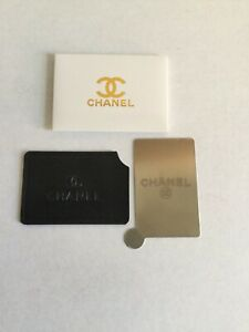 Chanel Compact Cosmetic Mirror with Black Padded Sleeve NIB
