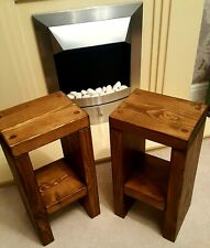 Two Rustic Bedside tables/Sofa Table/Lamp stand/50x25x20cm Special Offer!!!