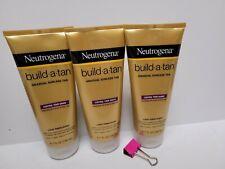 Neutrogena Build-A-Tan Gradual Sunless Tan Light Fresh Scent X3 New