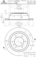 25496 2 Rear brake discs / rotors fit Acura Honda Isuzu Brembo Non Chinese made