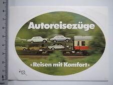 Aufkleber Sticker Autoreisezüge Deutsche Bahn 80er Jahre Oldtimer (7615)