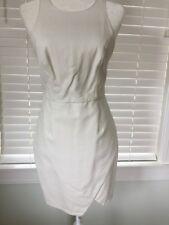 Asos stylish white faux leather sleeveless wrap skirt dress, size US4 NEW