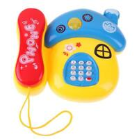 Baby Mushroom Plastic Telephone Toy Kids Early Education Gift with Music Light