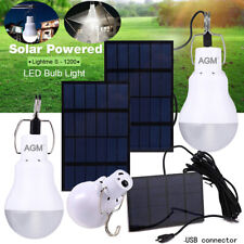 2stk 15W Solar Glühbirne Zeltlampe LED Solarleuchte Außenleuchte Camping Lampe