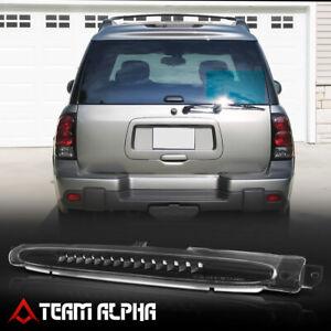 Fits 2002-2009 Trailblazer/Envoy[Black/Clear]LED Third 3rd Brake Light Tail Lamp