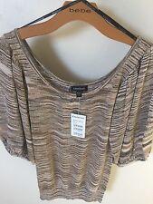 Bebe Metallic Sweater S NWT