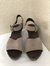 26820bf72b1 Kork Ease Taupe Gray Suede Leather Wedge Sandal Women Size 9M