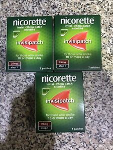 Nicorette InvisiPatch (Step 1) 7 X 25mg Patches - 3 Packets (21 Patches Total)