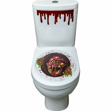 Zombie Portal Toilet Seat Stickers Blood Drip Halloween Party Prop Decoration