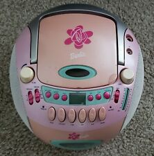 Barbie 2003 AM/FM Radio With CD & Cassette Tape Player