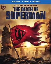 THE DEATH OF SUPERMAN(BLU-RAY+DVD+DIGITAL HD)W/SLIPCOVER NEW