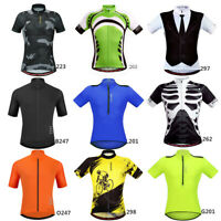 Men's Cycling Jersey Bike Clothing Short Sleeve Shirt Cycle Breathable Top M-3XL