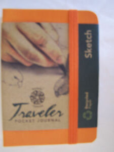 "Pentalic Bold 4"" x 3"" 74 lb.  Sketch  Traveler Pocket Journal choice/color"