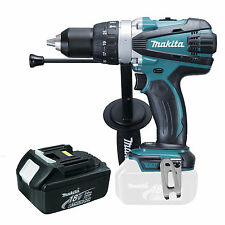 MAKITA 18V LXT DHP458 DHP458Z DHP458RFE COMBI DRILL AND BL1830 BATTERY