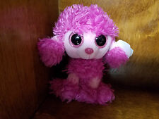 New with tags  Ty Beanie Boo Patsy the pink poodle 6 inches 2017 release!
