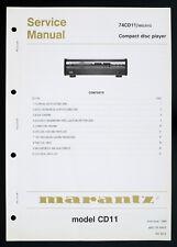 MARANTZ 74CD11/CD11 Original Compact Disc/CD-Player Service-Manual/Diagram o127