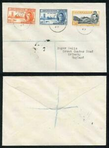 Ascension SG48/9 1946 Victory Set and 1d on Cover to England