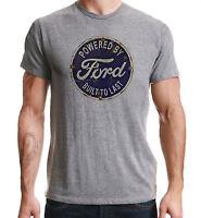 Powered By Ford American Retro Classic Car Print Sport Grey T-Shirt