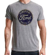Alimenté Par Ford Américain Voiture Classique Rétro Imprimé Sport Gris T-Shirt