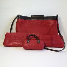 Worthington 4 Piece Set Handbag Purse Wallet Cosmetic Case Eyeglasses Case
